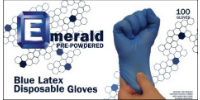 picture of box of Emerald blue latex gloves