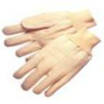 picture of white cotton canvas gloves