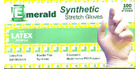picture of box of yellow stretch synthetic gloves