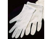 picture of white french inspector's gloves