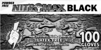 picture of box of black Nitromax gloves