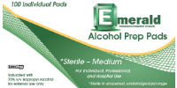 picture of alcohol prep pads package
