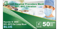 picture of box of 99% BFE surgical procedure masks