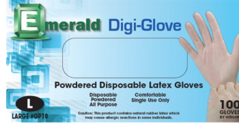 picture of box of Digi-Glove powdered latex general purpose gloves