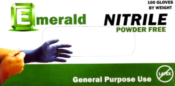 picture of box of Emerald general purpose nitrile gloves