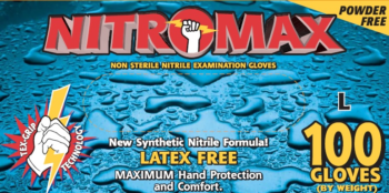 picture of box of Emerald Nitromax nitrile gloves