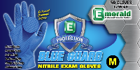 picture of box of Blue Guard nitrile exam gloves
