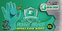 picture of box of Emerald Green Guard nitrile exam gloves