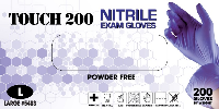 picture of box of Emerald Touch 200 3 mil nitrile exam gloves