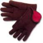 picture of lined brown jersey gloves