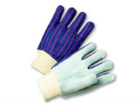 picture of knit wrist leather palm gloves
