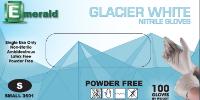 picture of box of Glacier White nitrile gloves