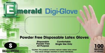 picture of box of Digi-Glove powder-free latex general purpose gloves
