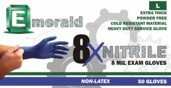 picture of box of Emerald 8X nitrile gloves