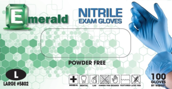 picture of box of Emerald 3 mil nitrile exam gloves