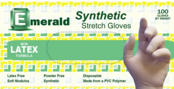 picture of box of Emerald synthetic stretch gloves