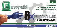 picture of box of Emerald 8X nitrile exam gloves