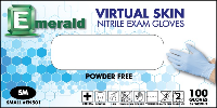 picture of box of Emerald Virtual Skin nitrile exam gloves